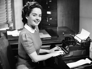 typewriter girl